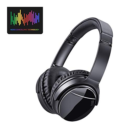 EUROPE HUT LC-9300 Bluetooth Wireless Kopfhörer Over-Ear,Kabellose Headset mit Hi-Fi Stereo, Noise Cancelling Kopfhörer mit Mikrofon Freisprechen, Micro SD/TF, FM für Handys/iPad/Laptops & PC Schwarz