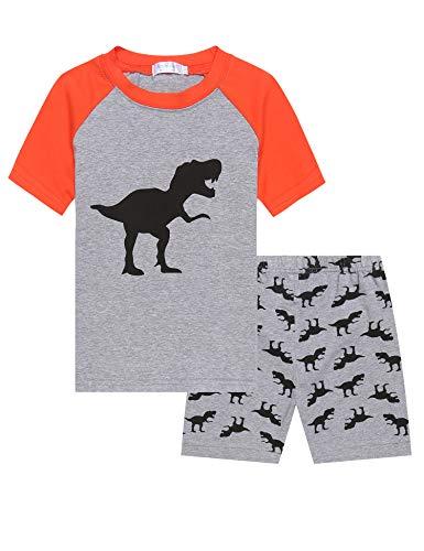 Dinosaurier-nachtwäsche (Bricnat Jungen Neuheit Pyjamas Set Cartoon Dinosaurier Nachtwäsche Nachtwäsche Kurzarm Pjs Outfit 92-120 Jahre)