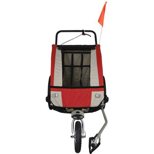Vollgefederter Kinderfahrradanhänger mit Joggerfunktion Fahrradanhänger Exclusiv 504S-01 - 2