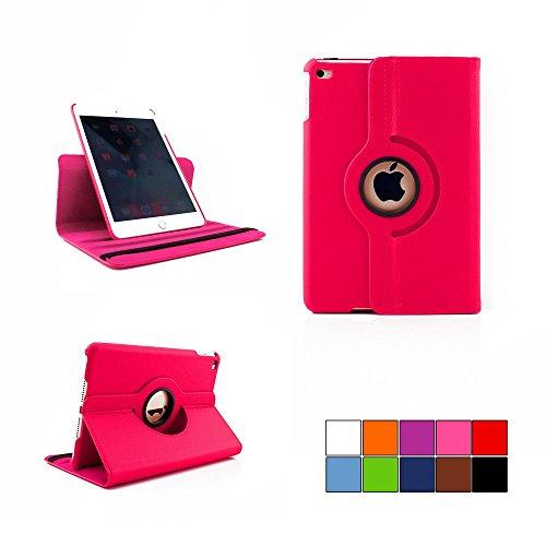 COOVY® Cover für Apple iPad mini 4 Retina ROTATION 360° SMART HÜLLE TASCHE ETUI CASE SCHUTZ STÄNDER | Farbe hotpink