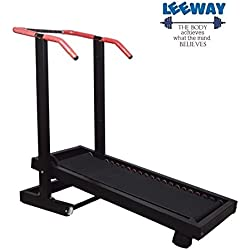 Leeway Manual Treadmill Walk Or Run Foldable Jogger Fitness Loose Weight For Home Gym/Cardio