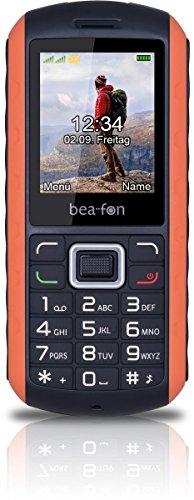 Beafon AL550_EU001BO Mobiltelefon (Dual SIM, TFT Farbdisplay, VGA Kamera, Bluetooth, IP67 (Staubdicht und Wasserdicht, 4,6 cm (1,8 Zoll schwarz/orange
