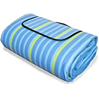 Manta picnic TOLEDO XXL - 200x200 cm grande - aislad - plegable - alfombra de playa azul