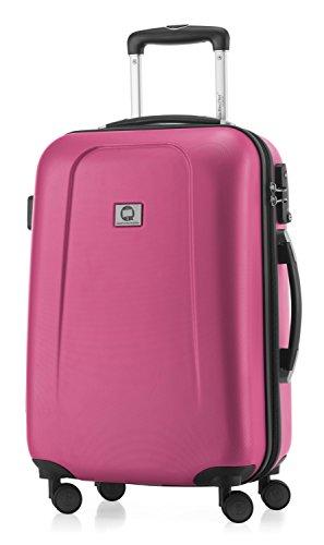 HAUPTSTADTKOFFER - Wedding - Handgepäck Koffer Kabinen Hartschalen-Koffer Trolley Rollkoffer Reisekoffer, TSA, Doppelrollen 55 cm, 42 Liter, Magenta