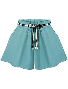 Pantaloncini Donna Eleganti Estivi Casual Hipster Vita Alta Sciolto Taglie Forti Shorts Pantaloni Corti Abbigliamento...