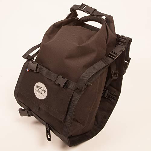 Fahrradtasche für Gepäckträger Bakkie Cycles -15 L -Wasserdicht -Transport von sperrigen Gegenständen : Rucksack, Einkaufstasche, Gitarre, Kinderfahrrädern -Französische Fertigung -Einheit -NEU!