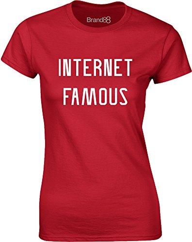 Brand88 - Internet Famous, Mesdames T-shirt imprimé Rouge/Blanc