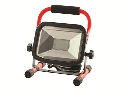 LUCECO Ultraflacher LED Baustrahler 50 W mit Ständer, 3000 lm, 5000 K, IP65-Geschützt, Energieeffizienzklasse A+, 1 Stück, LSW50BR2-EU -