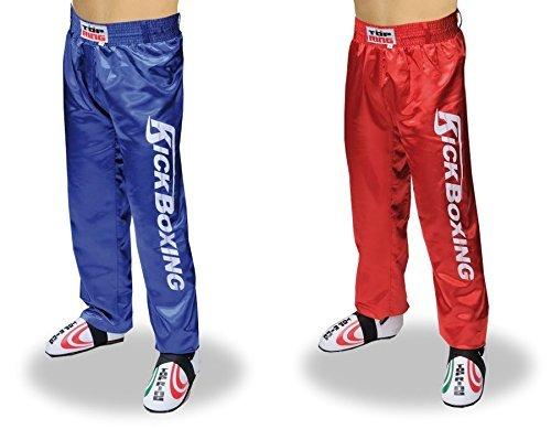 Pantaloni lunghi da Kick Boxing / Full Contact Top Ring Art. 267 (Rosso, XXL)