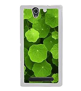 Green Leaves 2D Hard Polycarbonate Designer Back Case Cover for Sony Xperia C4 Dual :: Sony Xperia C4 Dual E5333 E5343 E5363