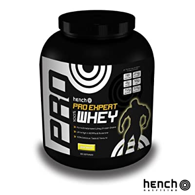 2kg Hench Nutrition Pro Expert 100% Whey Protein Powder Bcaa & Glutamine Shake Drink - Banana from Hench Nutrition