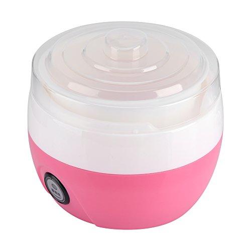Automatisch Joghurt Maschine Joghurt Maker DIY Maker 1L Elektronisch Joghurt Maschine Joghurt Werkzeug Kunststoffbehälter(Rosa)