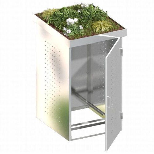 BINTO Mülltonnenbox Edelstahl, Müllbox System 11