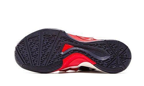 Nike Court Borough Mid, Chaussures de Sport-Basketball Homme, Gris Noir (Noir / Action Rouge-Blanc)