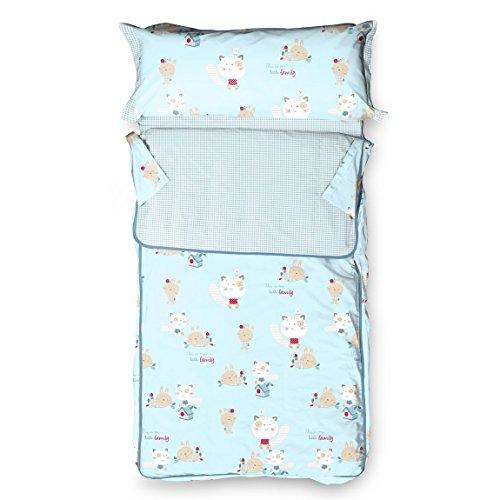 Burrito Blanco - Saco nórdico 143 para cama 90x190/200 cm, color azul