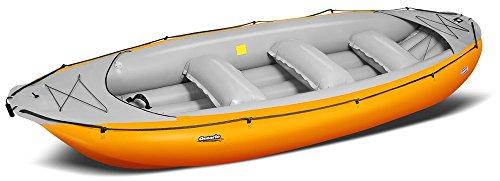 Gumotex Ontario 450 S - 6 Personen Schlauchboot Wildwasser Trekking Boot, Farbe:orange