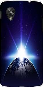 Snoogg Earth Sunrise Designer Protective Back Case Cover For Lg Google Nexus 5