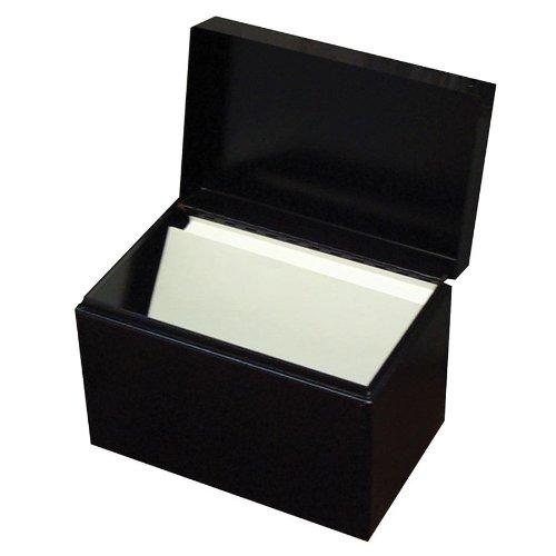 �x 15,2cm Karte Datei, Stahl, 10,2x 11,4x 17,1cm, schwarz (0446–4) (Index-karte Speicher)
