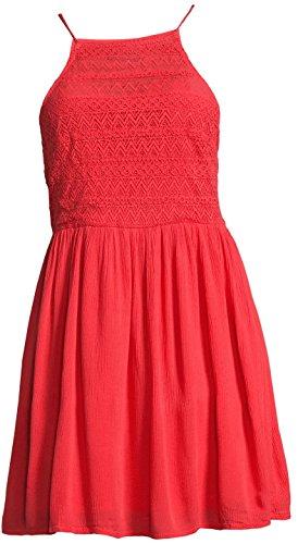 Even&Odd Sommerkleid Damen mit Spitze in Rot, Minikleid, L