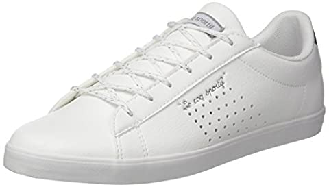 Le Coq Sportif Agate LO S Lea/Metallic, Baskets Basses Femme, Blanc (Optical White/Silver), 38 EU