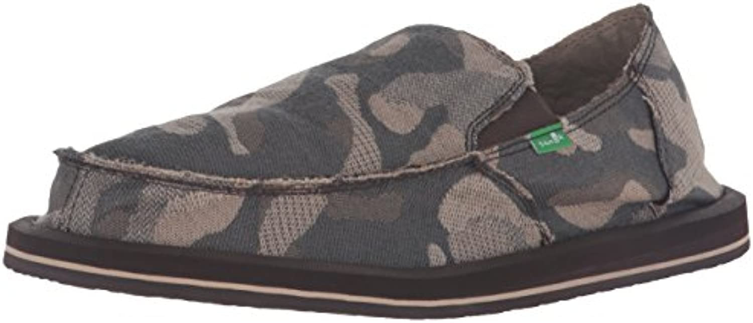 Sanuk Men's Vagabond Slip On  Smoke Camo  8 M US