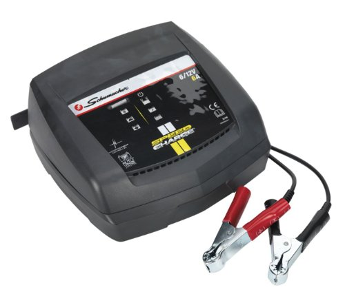 SCHUMACHER 6Amp 12Volt Akku-Ladegerät Betreuer Tragbare Schnell Ladekabel Fahrzeug Booster 6A 12V (Batterie Betreuer)