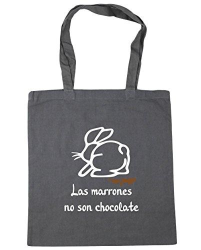 HippoWarehouse Las Marrones no son Chocolate Bolso de Playa Bolsa Compra Con Asas para gimnasio 42cm x 38cm 10 litros capacidad
