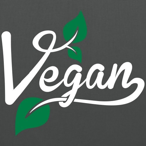 Spreadshirt Vegan Blätter Stoffbeutel Graphite