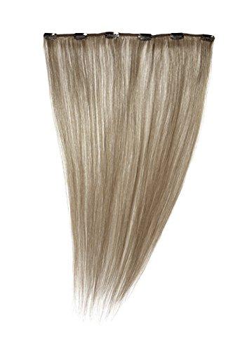 American dream a1/qfc12/18/c17 - extension con clip, un pezzo unico, 100 % capelli naturali, 46 cm, colore c17: biondo grigio