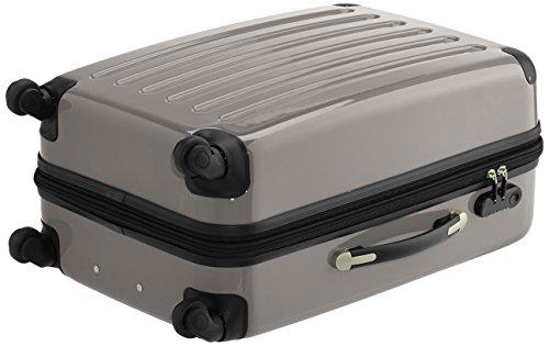 HAUPTSTADTKOFFER - Alex - 2er Koffer-Set Hartschale glänzend, 65 cm, 74 Liter, Graphit-Schwarz Graphit-Aubergine