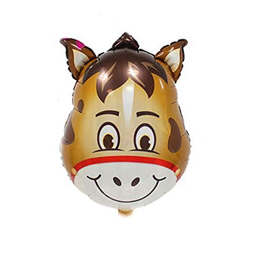 CAOLATOR. Folie Luftballons Cartoon Frucht Pferd Folienballon Schulanfang Metallic Heliumluftballons Luftballons Konfetti Ballons für Hochzeit Geburtstag Luftballon Party Deko