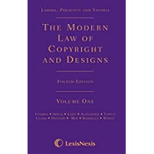 Laddie, Prescott and Vitoria: The Modern Law of Copyright and Designs