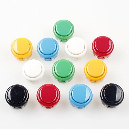 360 Xbox Plug-and-play-kit (EG STARTS OEM 12x 30mm Drucktastenschalter Kopieren Sanwa Obsf-30 Obsc-30 Obsn-30 Tasten DIY Arcade Kampfspiele Kits & Super Street Fighter Spiele - Jede Farbe 2 Stck)