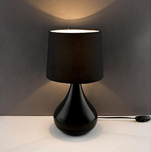 black-table-lamp-high-gloss-ceramic-glaze-base-shade-bedroom-lounge-hall-light