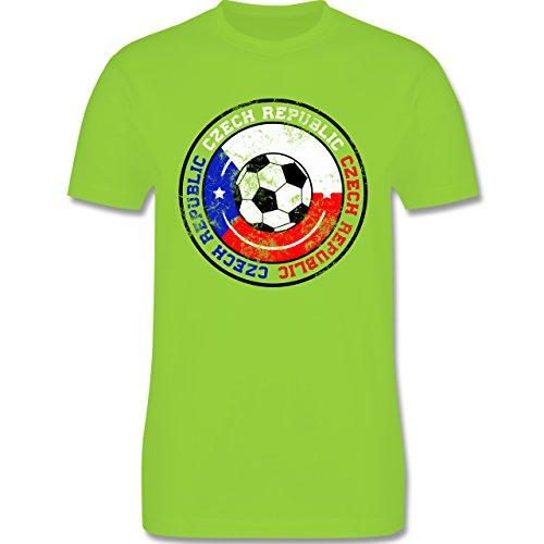EM 2016 - Frankreich - Czech Republic Kreis & Fußball Vintage - Herren Premium T-Shirt Hellgrün
