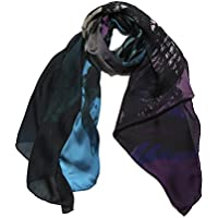 BERGENIA Sciarpa Fashion da Designer Lunga Stampata da Donna -