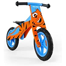 Bicicleta de Aprendizaje (sin pedales) de 12 Pulgadas de madera, neumáticos (ventil), Tema:Tiger