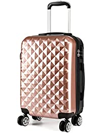 """Kono 20"""" Hand Luggage Lightweight Hard Shell PC+ABS Suitcase 4 Spinner Wheels 360 Degree Rolling Cabin"""