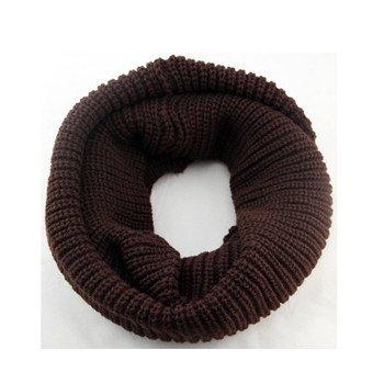 Ducomi® Sciarpa Gilt Infinity a Tubo in Morbido Misto Lana - Ottimo Regalo (Marrone scuro)