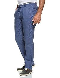 JP 1880 Herren große Größen | Hose in Leinen-Optik | Strandhose im Straight Fit | 100 % Baumwolle | Tunnelzug-Band | Stretch Bund | bis Größe 70 | 708359
