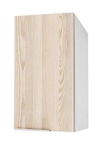Berlioz Creations Caisson Haut de cuisine 1 porte 40, Panneaux de Particules, Frêne Sablé, 40 x 34 x 70 cm