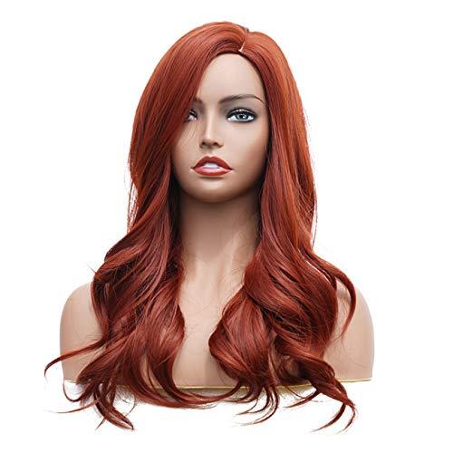 6fc1dd51e941 Parrucche Donna Carnevale Rossa Lunghi Ricci Elegante Moda Sexy Capelli  Naturali Wig Everyday Fancy Dress Partito
