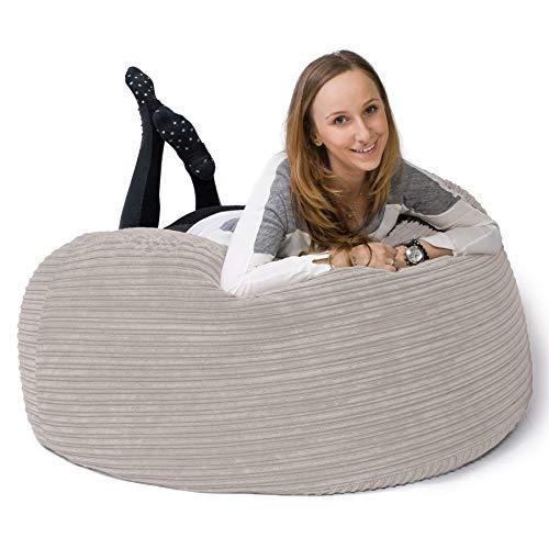 Lounge Pug®, Puff GiganteSofá 'Mamut', Pana Clásica - Crema