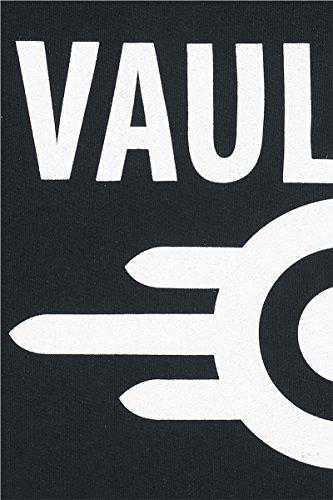 Fallout Vault Tec Kapuzenjacke schwarz Schwarz