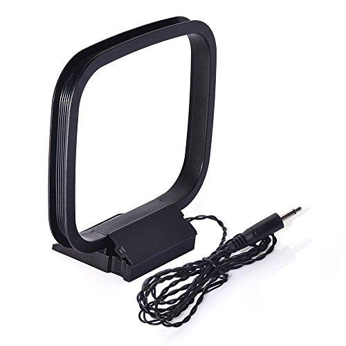 Bingfu AM Rahmenantenne 75 Ohm 3,5 mm Adapter AM/MW/LW Antenne Kompatibel mit Audio Empfänger Systeme Sony HiFi Serie AM Antenne mit natürlichem Klang Stereo Empfänger (Sony Fm Am Receiver Stereo)