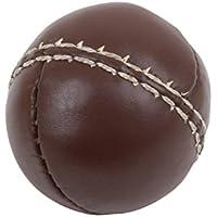 TRENAS Schlagball aus Leder - 80 Gramm - 65 mm - Braun - Einzeln - 10 Stück und 25 Stück - Für Wettkampf und Training