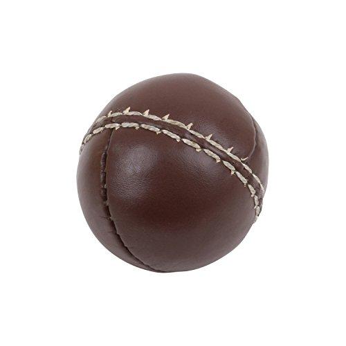 TRENAS Schlagball aus Leder - 80 Gramm - Braun - Für Wettkampf und Training