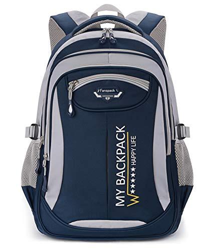 Schulrucksack,Fanspack Schulrucksack Jungen Teenager 2019 Schulranzen Jungen Rucksack Kinder Schultasche Grundschule Backpack Schultasche für Jungen Teenager