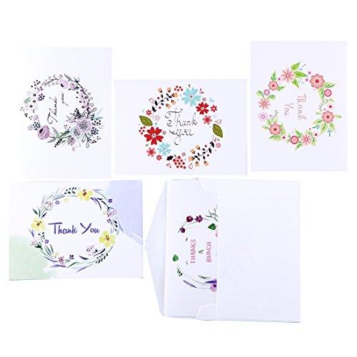 jofanza-30pcs-floral-tarjetas-de-agradecimiento-con-5-disenos-sobre-blanco-y-adhesivo-thx01