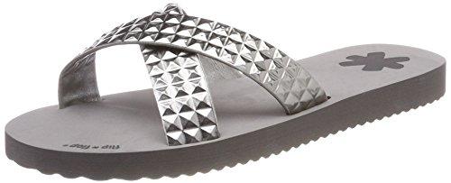 flip*flop Damen Crosstile Offene Sandalen, Grau (Steel), 39 EU
